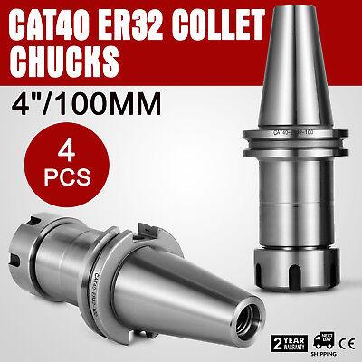 Cat40-er32 Collet Chucks W. 4 Long Gage Length---4 Chucks --tool Holder Set