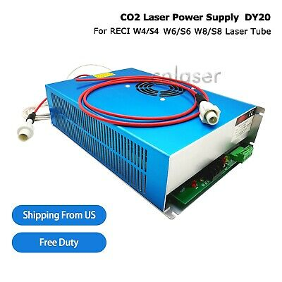 Power Supply For Reci Co2 Laser Tube 100w -180w W4s4 W6s6 W8s8 Dy20 110v Us