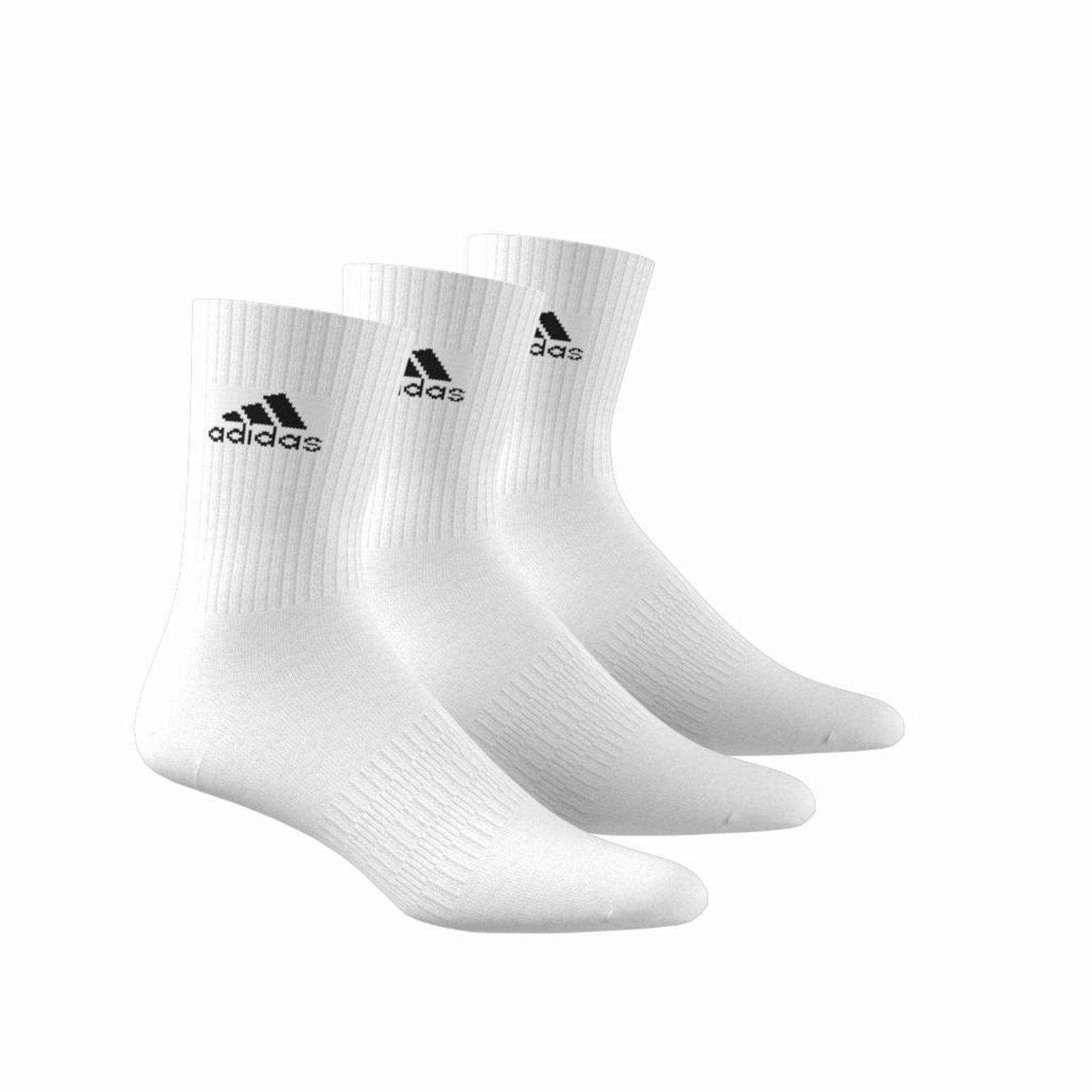 adidas Damen Herren Socken CUSHION CREW Socks Strümpfe weiß 3er Pack DZ9356