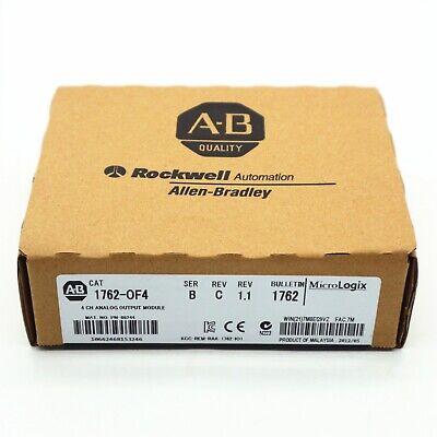 Allen-bradley Micrologix 4 Ch Analog Output Module Cat 1762-of4 Ser B Us