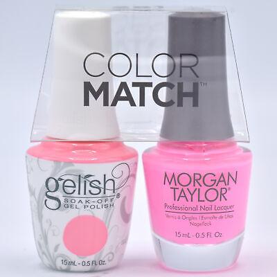 Gelish Gel Polish & Morgan Taylor Nail Polish Duo 1110178 Look At You, Pink-achu