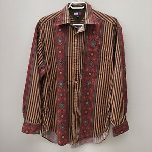 VTG Tommy Hilfiger Paisley Stripe Dress Shirt