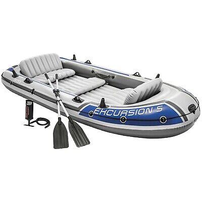2019 Intex Excursion 5 Boat Set + Pump + Oars 5 person Dinghy Tender  #68325