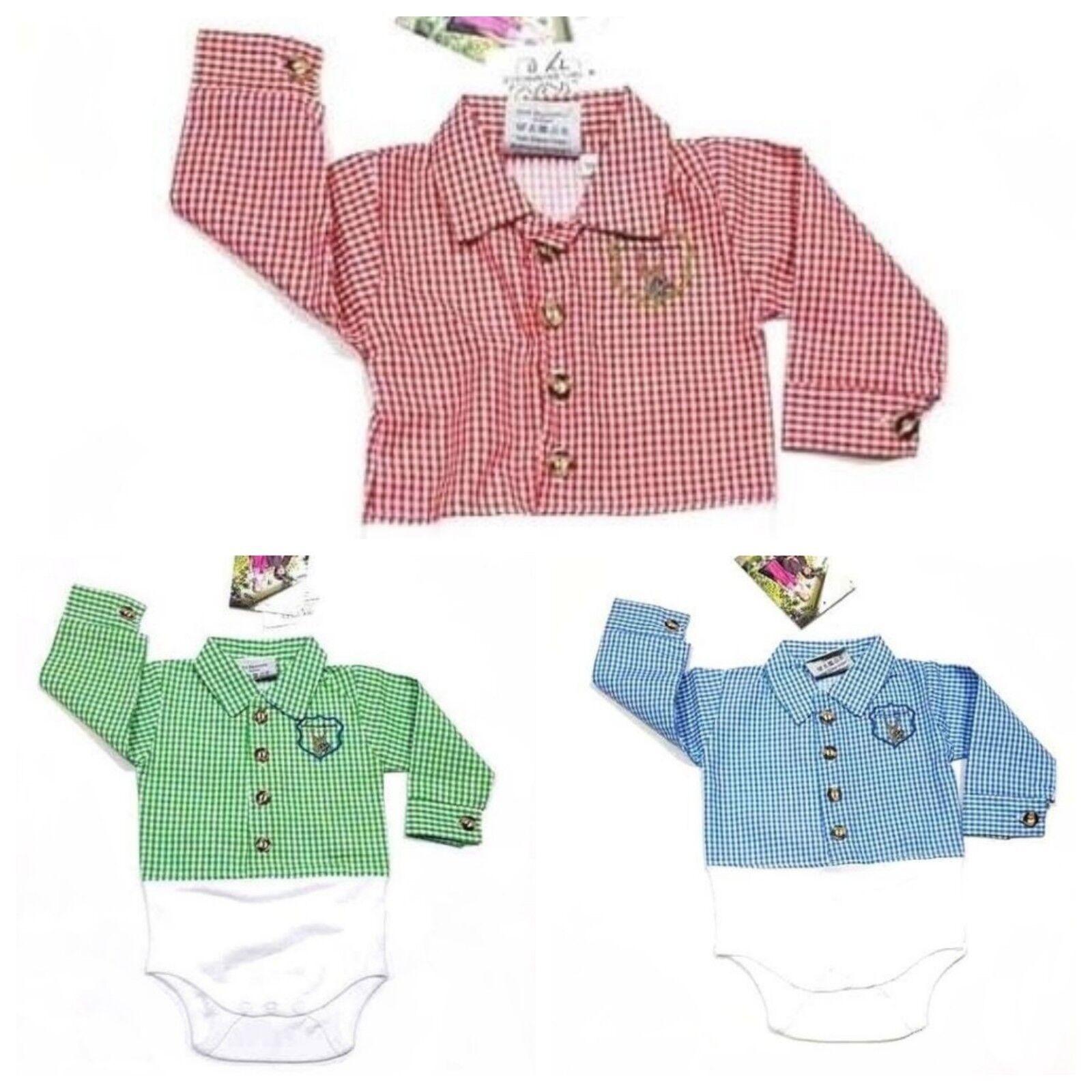 Isar Trachten Hemd/Body  für Baby Gr.56 bis 92 100 % Baumwolle