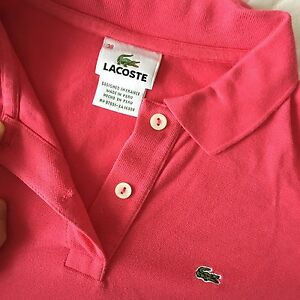 Pink LACOSTE polo shirt size 38 XS small authentic
