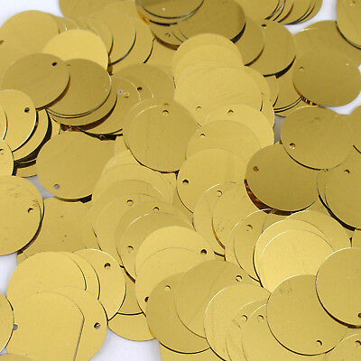 Sequins Gold 30mm Paillettes Flat ~50 or ~250 (25% Discount) pieces Loose - Flat Loose Sequins