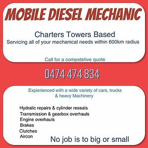 Mobile mechanic servicing your rural area Hughenden Central West Area Preview