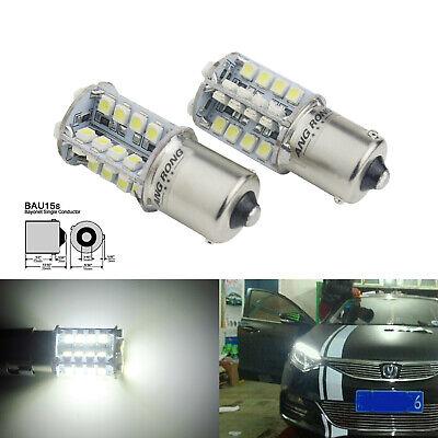 2 Stk 581 BAU15S PY21W 40 SMD LED Tagfahrlicht Lampe Bremslicht Blinker 7000K