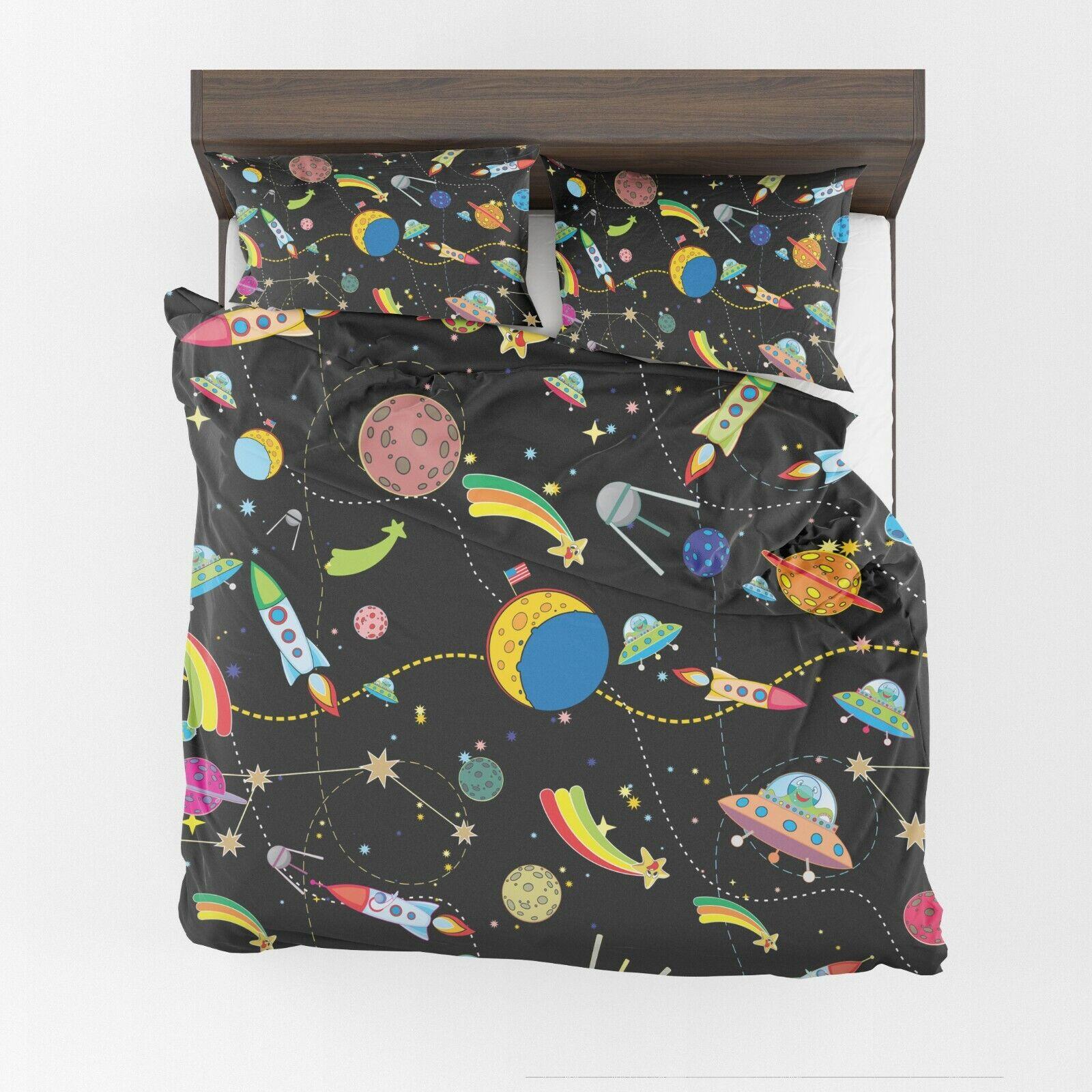 Space Comforter or Duvet Cover girls boys bedding kids duvet