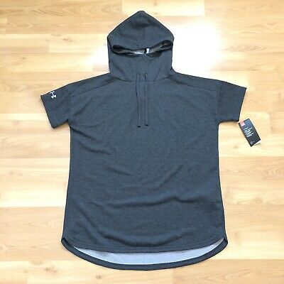 Under Armour Women ColdGear Championship Shortsleeve Hoody Carbon Size Large