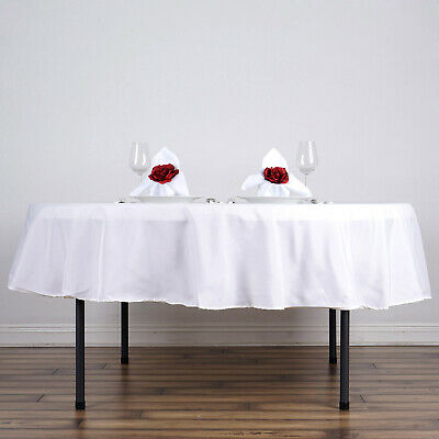 "10 WHITE 90"" ROUND POLYESTER TABLECLOTHS Wholesale Tabletop Decorations SALE"