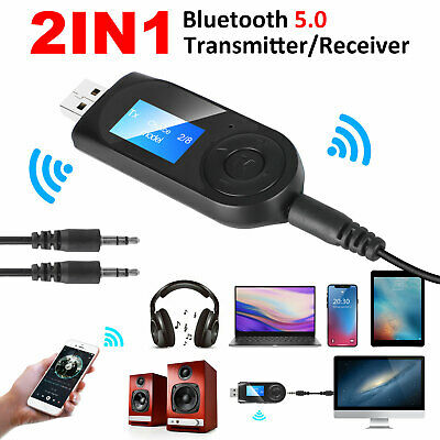 2in1 Bluetooth 5.0 Receiver Transmitter 3.5mm AUX USB Audio