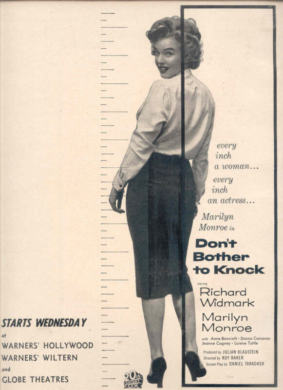"1952 RARE MARILYN MONROE ""DON"