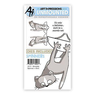 Art Impressions Rubber Stamp & Die Set  SCARDEY SPINNER & DIES - 3D-Cards -4819 Dice Spinner Set