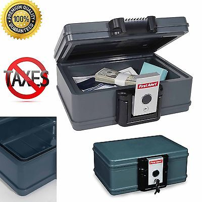 Fire Safe Lock Box Fireproof Waterproof Security Case Chest Storage Portable Key