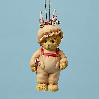 2015 Cherished Teddies Annual Dated Ornament Ready for Reindeer Games - Annual Dated Ornament