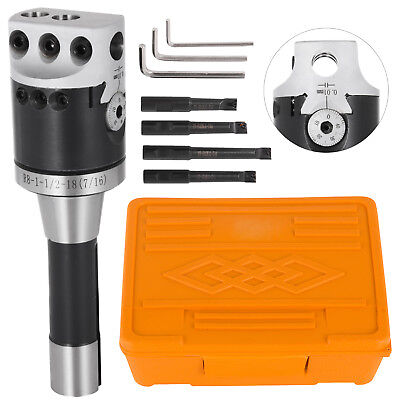 2 Boring Head R8 Shank 4pcs 12 Indexable Boring Bar Set 3 Hex Wrench