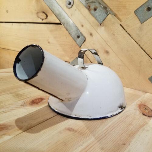 Male Urinal Vintage Enamel White - Swanky Barn