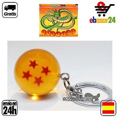 4 estrellas Llavero bola de dragon drac son goku DRAGONBALL Z sheron *Envío GRAT