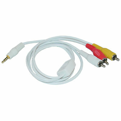 Ipod Audio Video Cable (6ft 3.5mm AV Audio Video Cable for iPod, 6 foot  10A1-05106 )