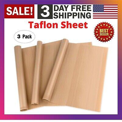 3 Pack Teflon Sheet 16x20 For Transfer Heat Press Iron Art Crafts Sewing Baking