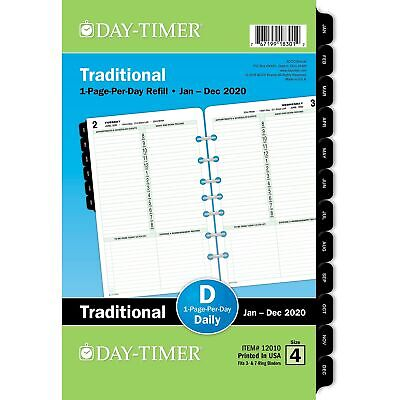 2020 Day-timer 5 12 X 8 12 Classic One Page Per Day Refill 24385062