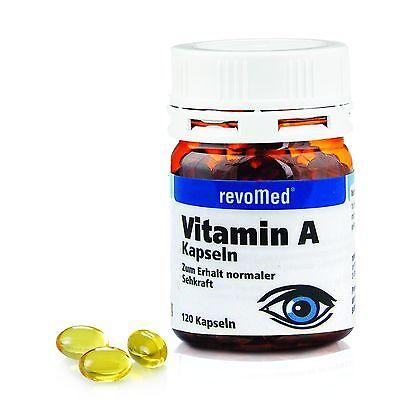 Vitamin A 120 Kapseln - Revomed Retinylpalmitat Sehkraft Augen