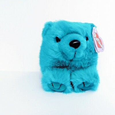 Puffkins Collection Telly Teal Blue Colored Bear Stuffed Plush 6673