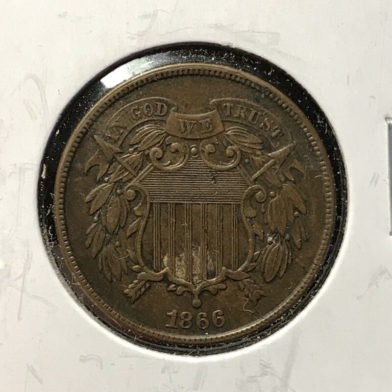 1866 2c TWO CENT TYPE *NICE XF / AU COIN* LOT#AJ72