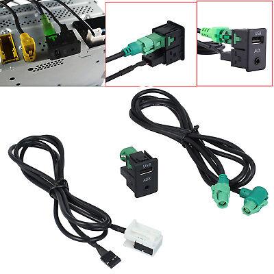 92 Usb (Aux Switch + Draht Kabel Adapter USB für BMW 5er E90 E91 E92 X5 X6 AC516 3,5 mm)