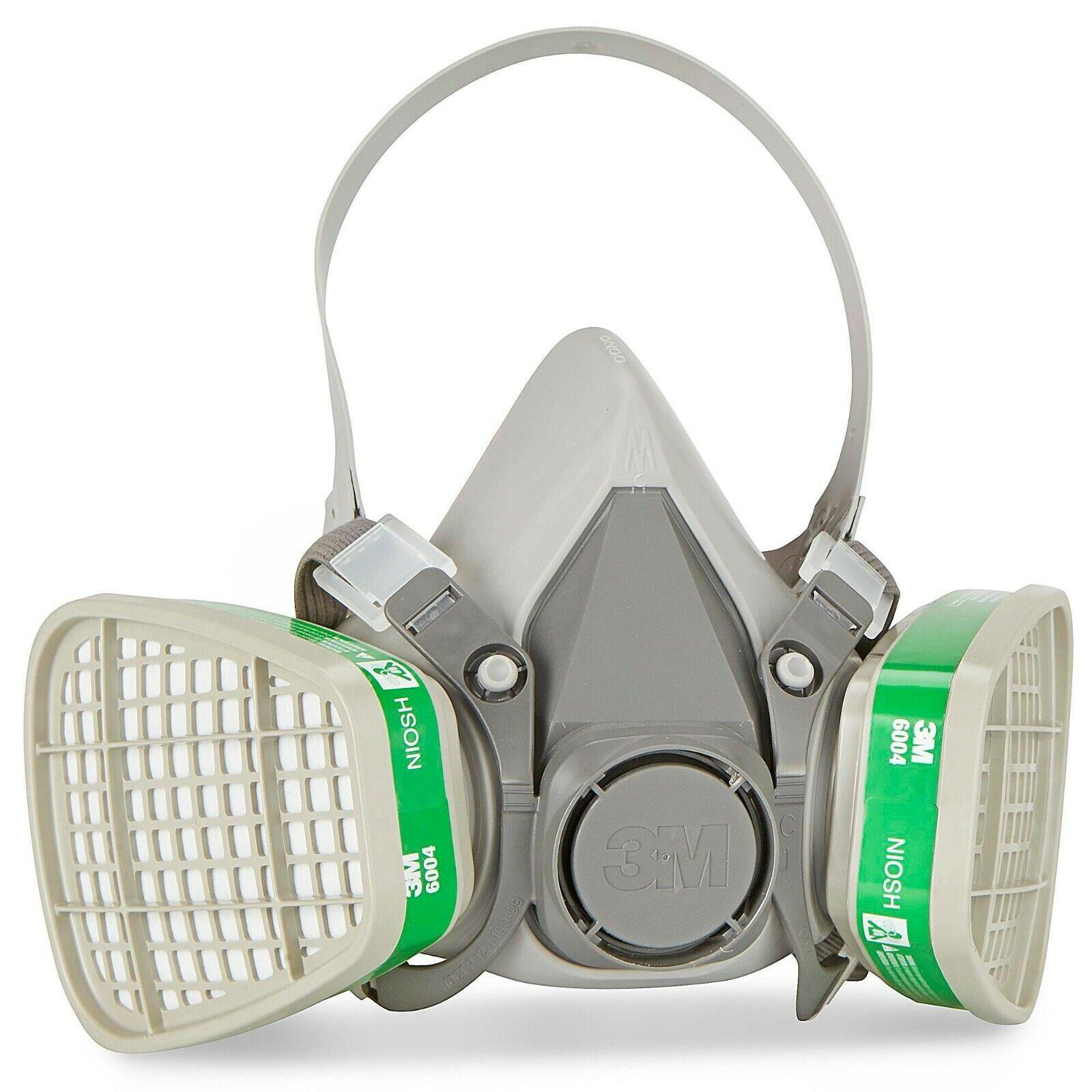3M 6200 Half Face Respirator W/ 3M 6004 Ammonia/Methylamin Cartridge MEDIUM Business & Industrial