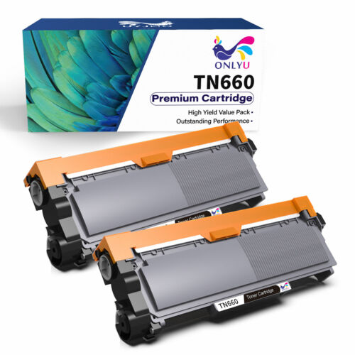 2 High Yield TN660 Black Toner Cartridge For Brother MFC-