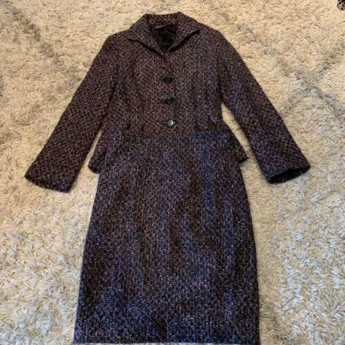 Lafayette 148 NY Tweed Two Piece Blazer Skirt Set
