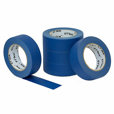 5 Pack 1.5 36mm X 60yd Stikk Blue Painters Masking Tape 14 Day Easy Removal