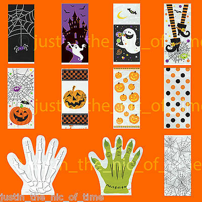 Halloween Trick Or Treat Bag Patterns (HALLOWEEN TRICK OR TREAT CELLOPHANE SWEET BAGS LOOT GIFT PARTY BAG PLAIN)