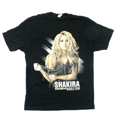 Shakira The Sun Comes Out World Tour 2010 Itinerary Tee - Ten Apparel - S