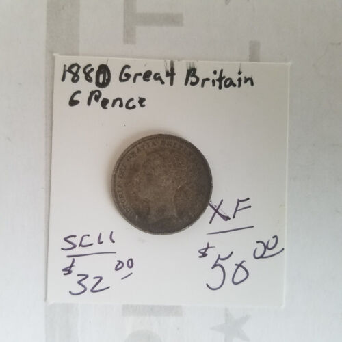 1880 Great Britain 6 Pence