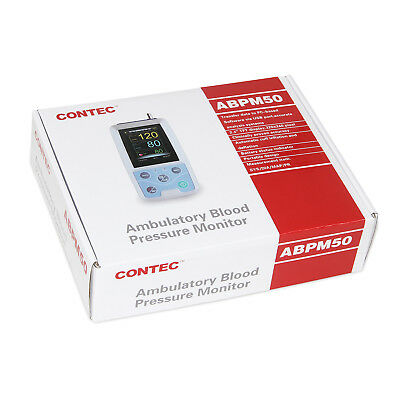 3-6 Us Nibp Monitor 24hour Ambulatory Blood Pressure Holter Abpm 50 Fda New Sale