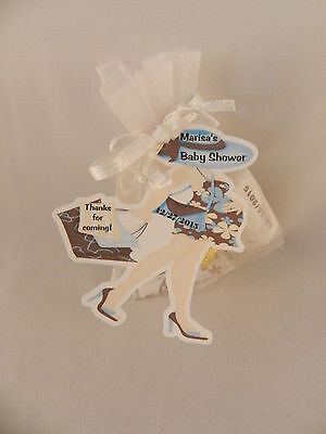 UNIQUE PERSONALIZED CHIC MOD MOM PREGNANT LADY BABY SHOWER PARTY FAVOR GIFT TAGS Chic Baby Shower Favors