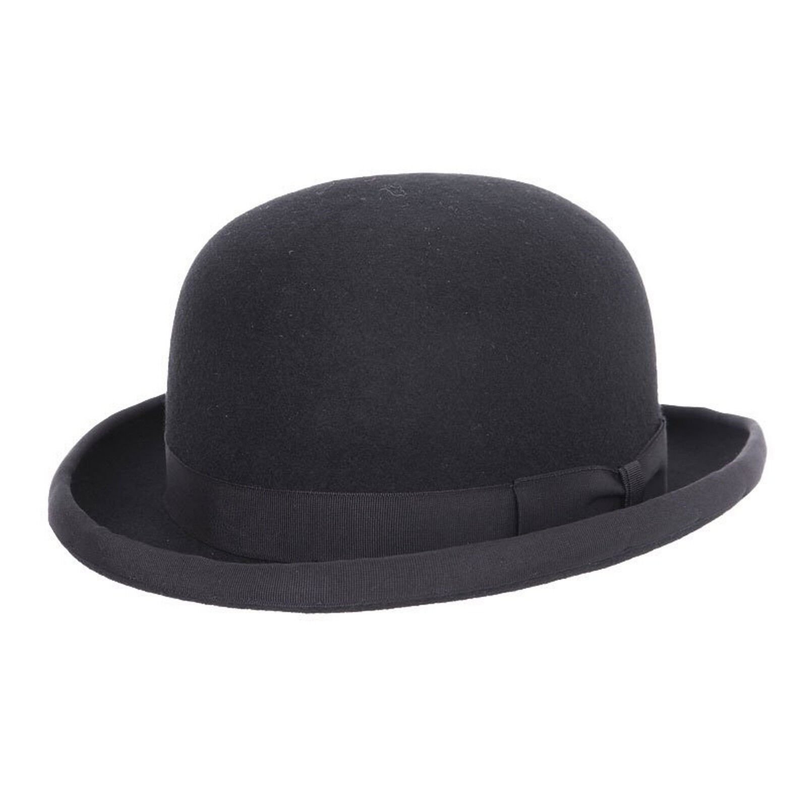 Childs Boys Girls 100/% Wool Felt Bowler Hat with Elasticated Band