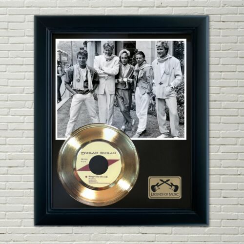 "Duran Duran ""Hungry Like The Wolf"" Framed 45 Gold Record Display"