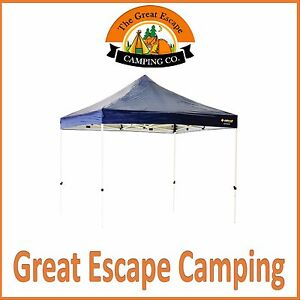 3x3 OzTrail Deluxe Gazebo Blue Market Stalls Outdoor Shade Marquee + Bag