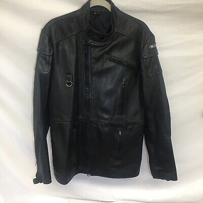 Vintage Harley Davidson Hein Gericke Black Leather Jacket Men's 42 Moto - CLEAN!