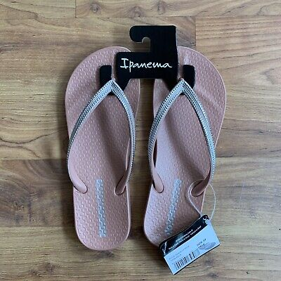 Ipanema Ladies Flip Flops Anatomica Mesh Blush UK 6 EU 39