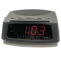 Vintage Timex AM/FM Alarm Clock Radio T229B Gray Works Tested
