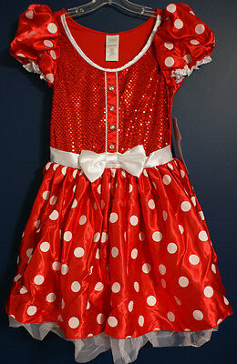 New Disney Store Classic MINNIE Costume Dress Adult Large (Adult Costume Stores)