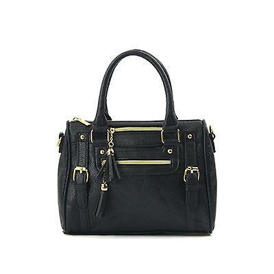 New Ladies Shoulder Tote Handbag Faux Leather Hobo Cross Body Bag Womens Purse