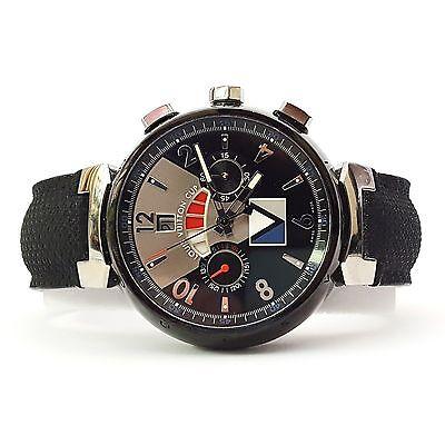 Louis Vuitton Tambour Regatta Cup - Q102G Chronograph Watch (16018)