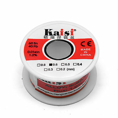 0.6mm X 65ft 6040 Rosin Core Flux 1.2 Tin Lead Soldering Solder Wire Spool 50g