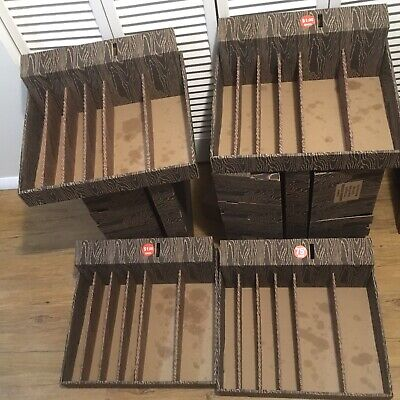 24 Wood Grain Snack Honor Vending Route Boxes W 24 Coin Boxes And Dividers